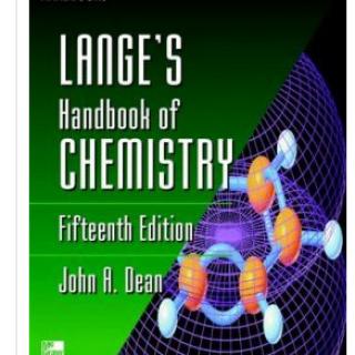 LANGE'S HANDBOOK OF CHEMISTRY pdf