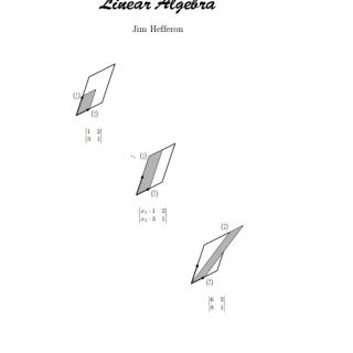 Linear Algebra by Jim Hefferon pdf