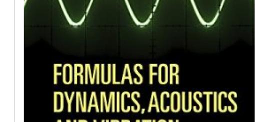 Formulas for Dynamics Acoustics and Vibration PDF