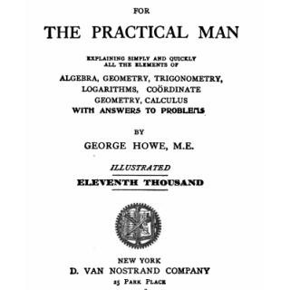 Mathematics for pratical man pdf
