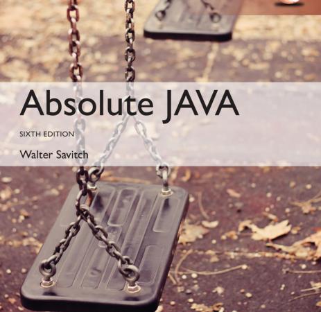 Absolute Java 6th edition pdf