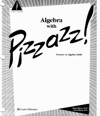 Algebra with Pizzazz pdf
