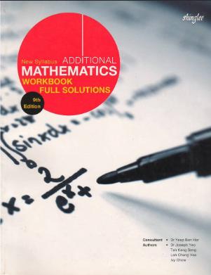 New Syllabus Additional Mathematics 9th edition pdf