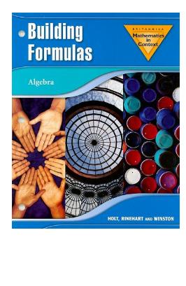 Mathematics in Context Building Formulas Algebra pdf