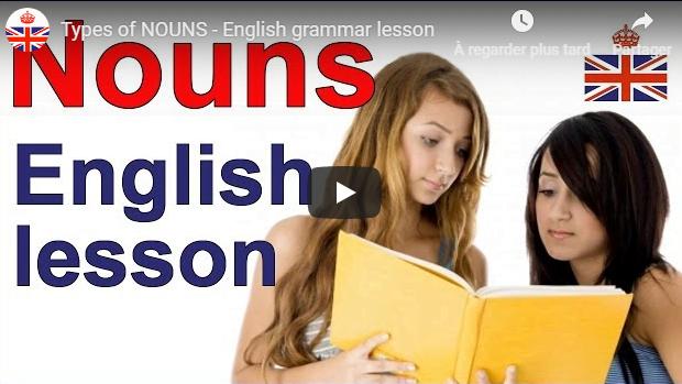 English grammar lesson Types of nouns