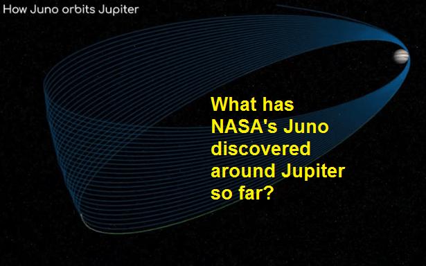 What has NASA's Juno discovered around Jupiter so far?