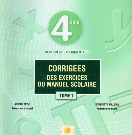 Corrigé Manuel Scolaire Mathématiques Bac sciences experimentales pdf