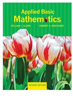 Book Applied Basic Mathematics 2nd Edition by William J Clark pdf