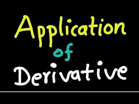 APPLICATION OF DERIVATIVES PDF