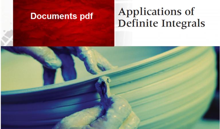 Applications of Definite Integrals pdf