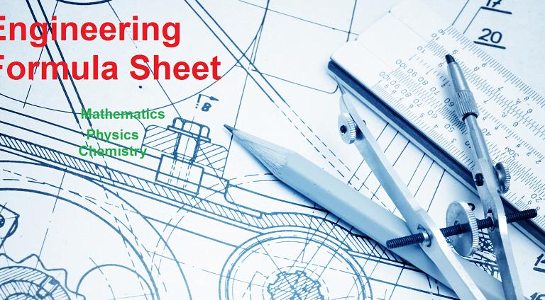 Engineering Formula Sheet pdf