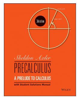 Book Precalculus A prelude to calculus by Axler Sheldon pdf