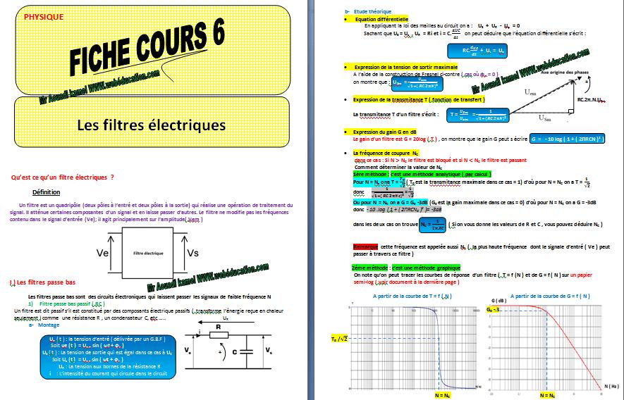Cours les filtres électriques pdf