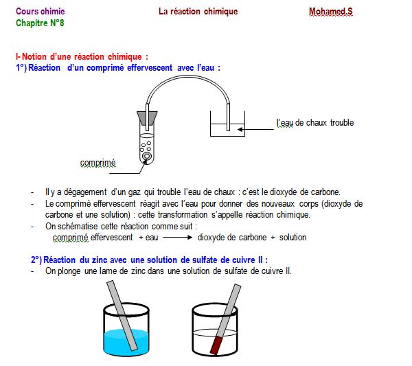 Etude qualitative d'une réaction chimique
