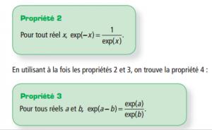 Cours la fonction exponentielle