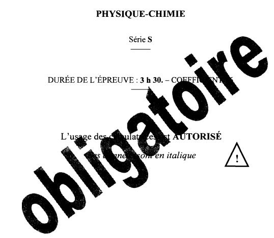 Baccalauréat général physique chimie pdf