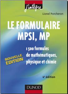 Livre Le formulaire MPSI et MP pdf