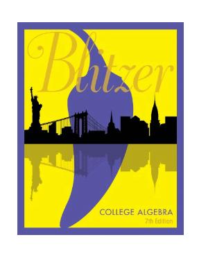 College Algebra by Robert Blitzer pdf
