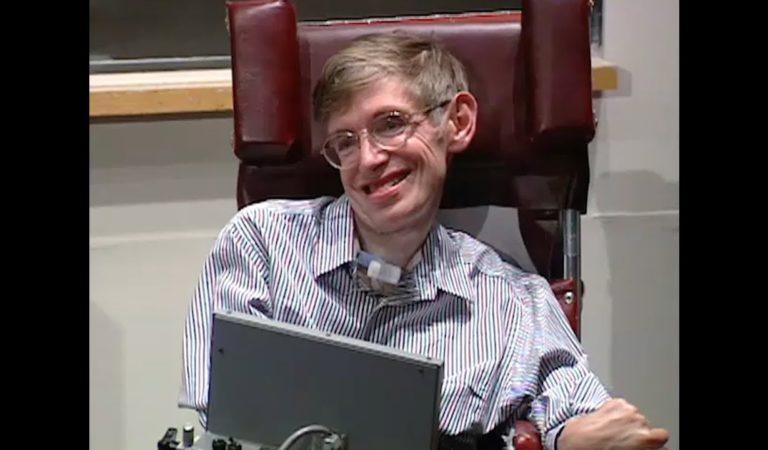 Stephen Hawking speaks at MIT